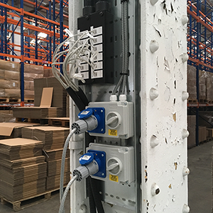 Industrial grade power and data with quick to disconnect option.