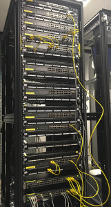 Structured data cabling rack at Kleeneze